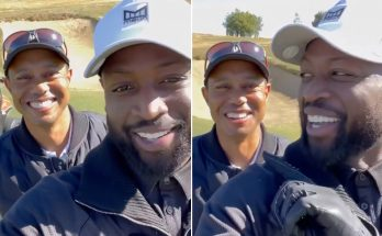 Dwyane Wade's shock as he learns about Tiger Woods' crash after golf lesson