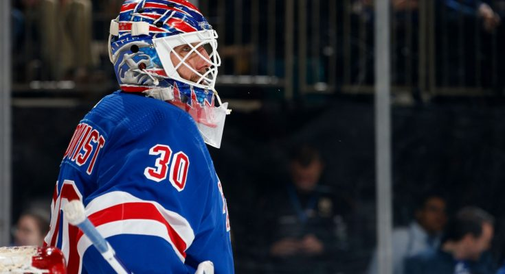 Lundqvist back on ice for first time since heart surgery
