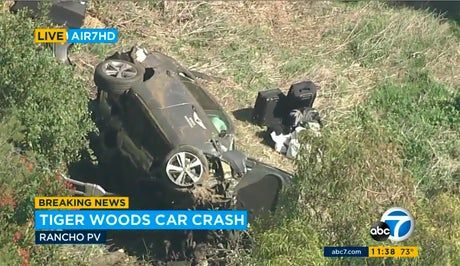 Tiger Woods car accident – latest: Golfer 'fortunate' to survive after crashing luxury Genesis SUV, police say