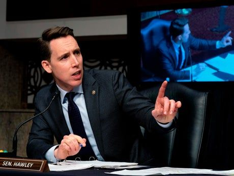 Twitter erupts over Hawley appearance at Capitol probe