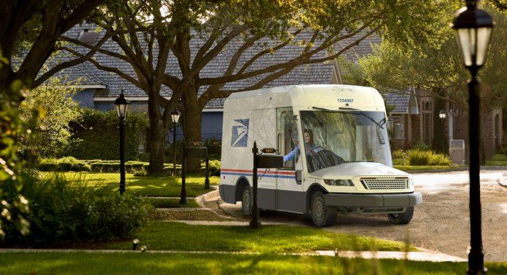 USPS unveils new sleek looking mail trucks