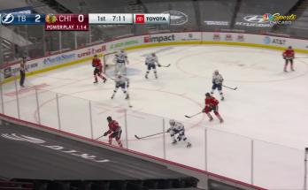 Alex DeBrincat with a Goal vs. Tampa Bay Lightning