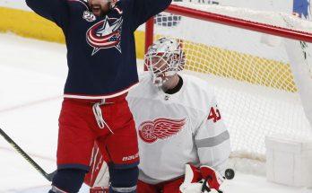 Blue Jackets top Red Wings 4-1, snap five-game losing streak