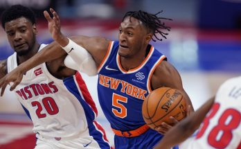 Knicks above .500 after 109-90 rout of Pistons